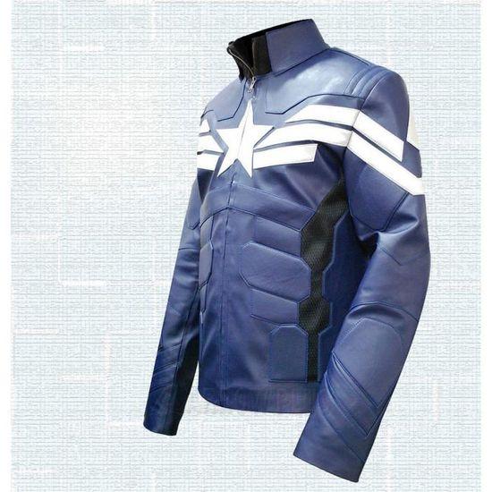 Captain Cuir Xl Veste Winter America Blouson Achat Taille Vente Zwq5UBU