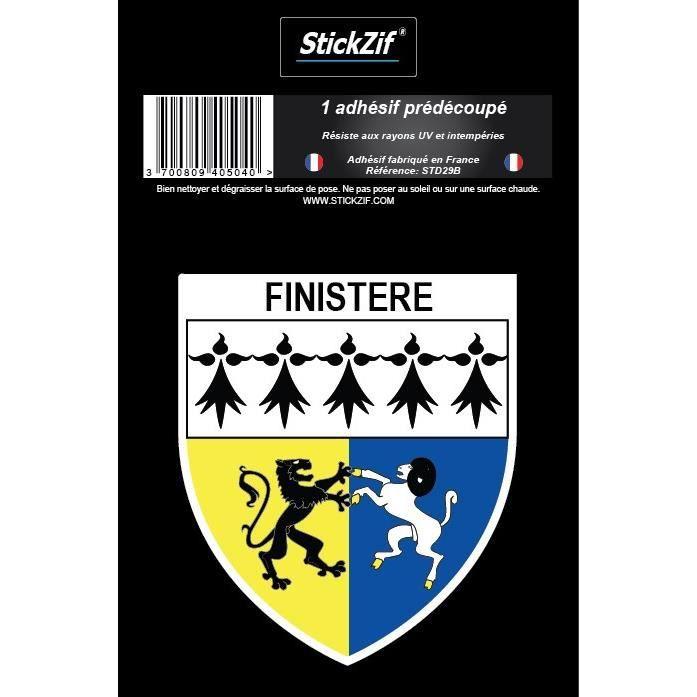 STICKZIF 1 Adhésif Blason Finistere STD29B
