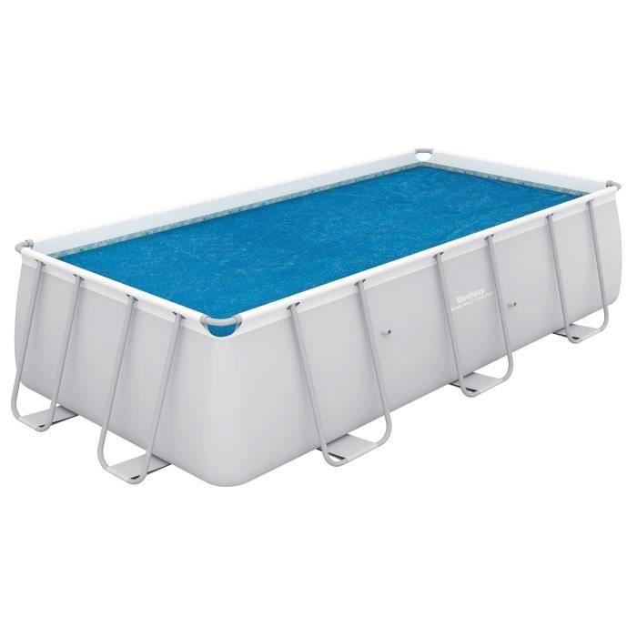BESTWAY Bâche solaire pour Power Steel Frame Pools 956x488x132cm - 927x454cm