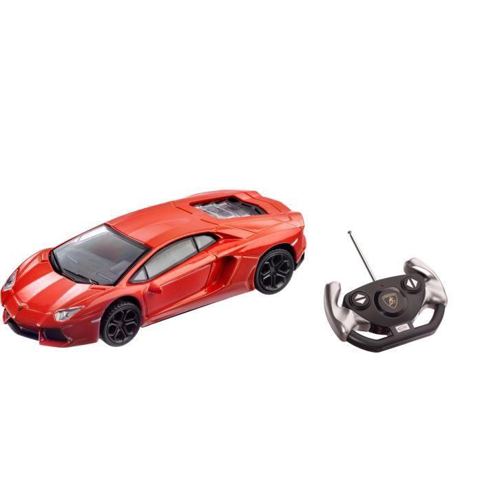 Mondo - Lamborghini Aventador R/C - Orange - Réplique fidèle d'une Lamborghini Aventador - Véhicule radio commandé - Garçon - A partir de 3 ans - Livré à l'unitéVEHICULE A CONSTRUIRE - ENGIN TERRESTRE A CONSTRUIRE