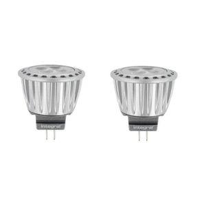 INTEGRAL LED Lot de 2 ampoules spot MR11 GU4 3,7 W équivalent ? 20 W 4000 K 320 lm