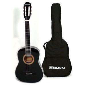SUZUKI Guitare classique 1/2 pour enfant finition noire avec housse de protection