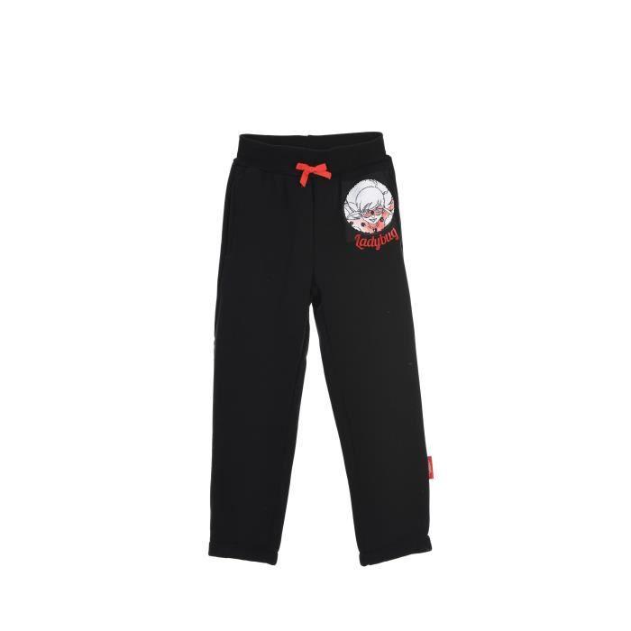 MIRACULOUS Pantalon Lady Bug Noir Enfant Fille