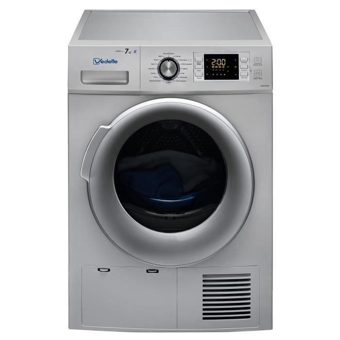 - 7 kg - Pompe à chaleur - Classe A++ - SilverSECHE-LINGE