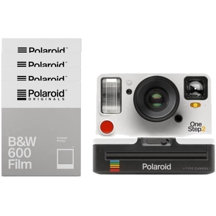 Polaroid OneStep2 - Avec Viseur - Appareil photo instantané - Blanc + 32 Films Noir & Blanc