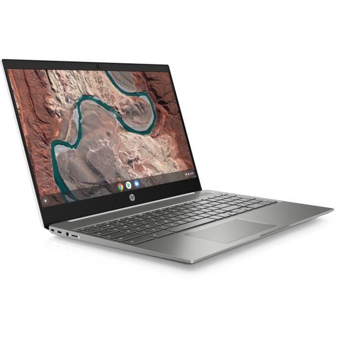 """HP Chromebook 15-de0002nf - 15""""FHD - Pentium 4417U - RAM 4Go - Stockage 64Go - Chrome"""