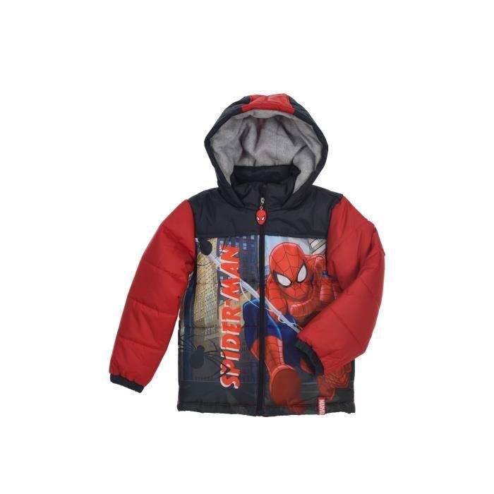SPIDERMAN Doudoune Rouge Enfant Garçon