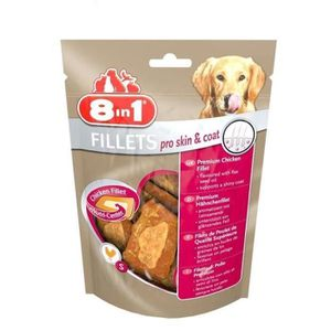 8in1 Lot de 2 Fillets Pro Skin & Coat S Friandises pour chien 80g