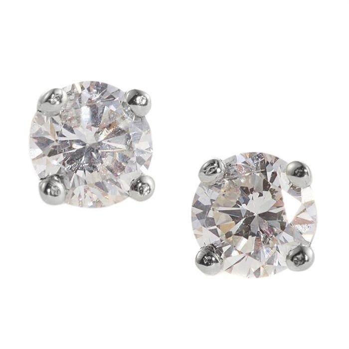 MONTE CARLO STAR Boucles d'oreilles Or Blanc 750° et Diamants 0. 30 ct Femme