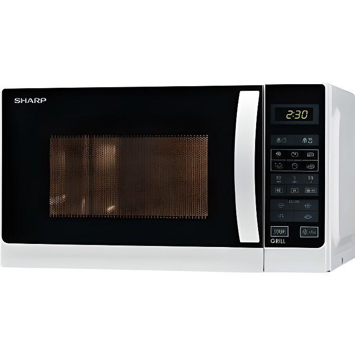 SHARP R642WW -Micro ondes grill combiné blanc-20 L-800 W-Grill 1000 W-Pose libre