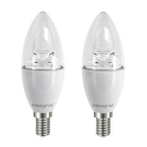 INTEGRAL LED Lot de 2 ampoules flamme E14 5,9W 490lm équivalent ? 40W