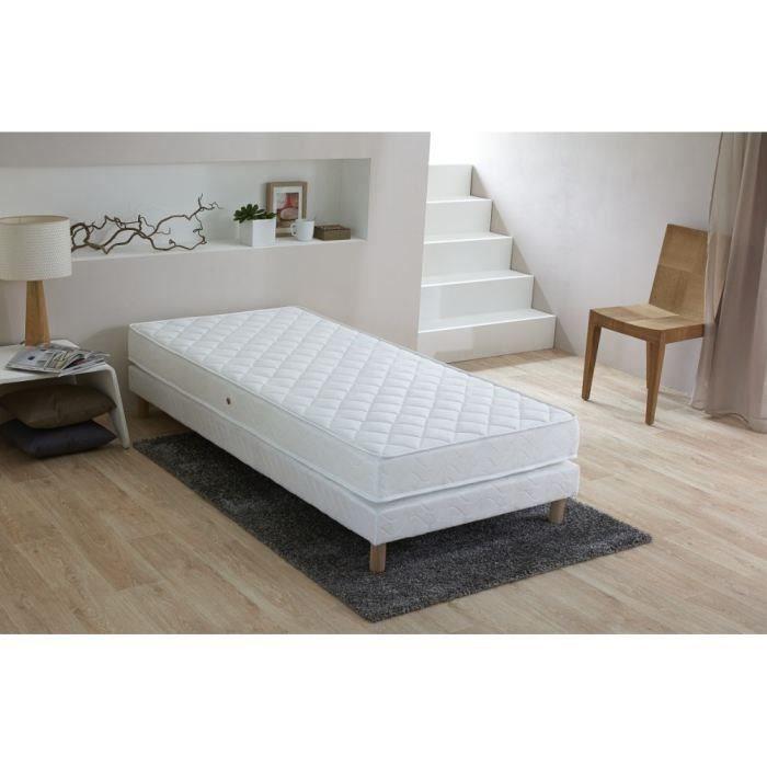 finlandek kheto ensemble matelas sommier 90x190cm 17cm mousse ferme 25kg m achat vente. Black Bedroom Furniture Sets. Home Design Ideas