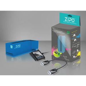 BOITIER POUR COMPOSANT MUKII ZIPO Plus D150U2-BL USB2.0 Station d'accueil