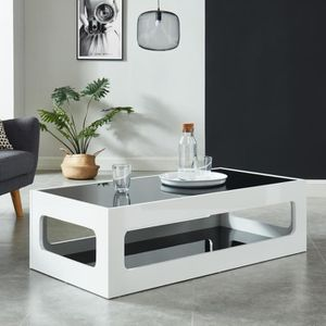 Table basse noire laquee rectangulaire achat vente - Table basse rectangulaire noire ...