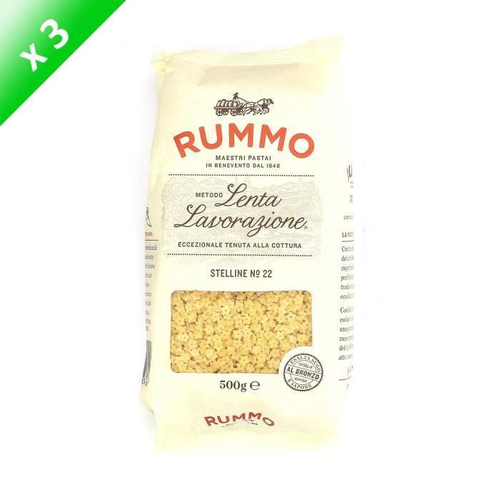 PÂTES ALIMENTAIRES RUMMO Lot de 3 Stelline N°22 - 500 g
