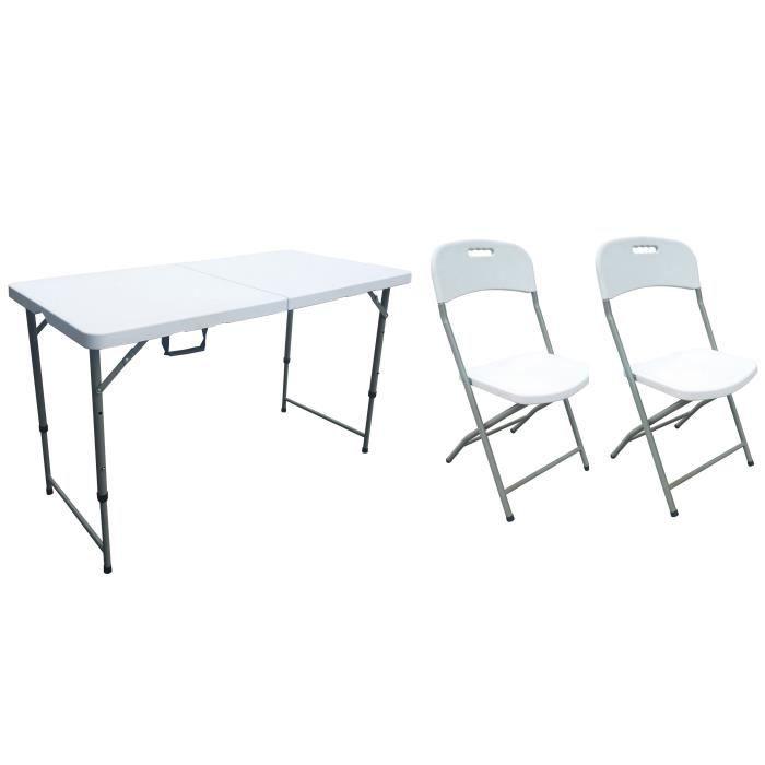 Table 4 Cm De 1 Pliante Chaises Pliantes 120 Et Pers Lot 2 CBWxrode