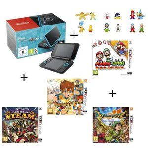 SORTIE CONSOLE NEW 2DS XL 4 jeux + console New Nintendo 2DS XL Noire&Turquoi