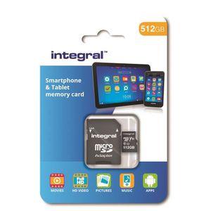 CARTE MÉMOIRE INTEGRAL MEMORY Class 10 Micro SDXC 512GB 80MB/s e