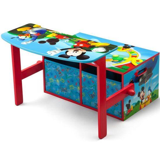 Bureau Banc Convertible Enfant Avec Rangements Mickey htsCdQr