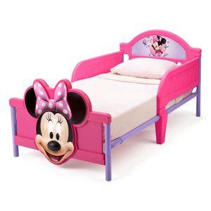 STRUCTURE DE LIT MINNIE - Lit Enfant Minnie 3D en métal - Violet et