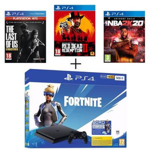 CONSOLE PS4 PS4 500 Go Noire + The Last Of Us PlayStation Hits