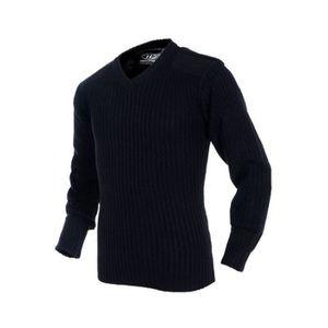 PULL HIGHLANDER Pullover Col V Acrylique Mixte Marine