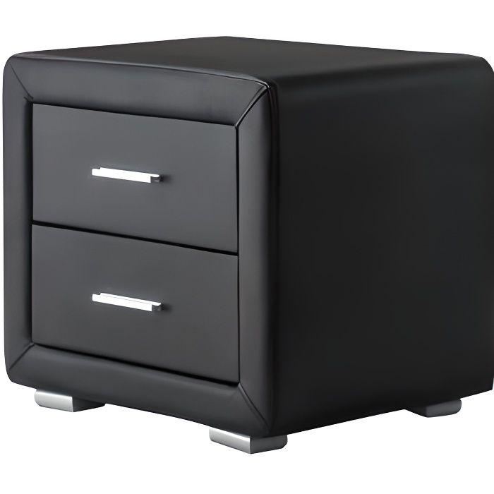 chevet simili cuir achat vente chevet simili cuir pas cher cdiscount. Black Bedroom Furniture Sets. Home Design Ideas
