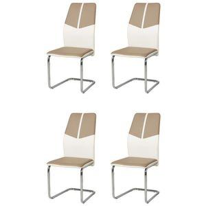 CHAISE MARBELLA Lot de 4 chaises de salle à manger en sim