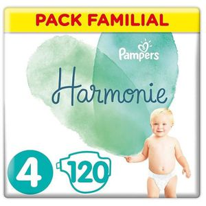 COUCHE PAMPERS Harmonie Taille4, 9-14kg, 120Couches (3