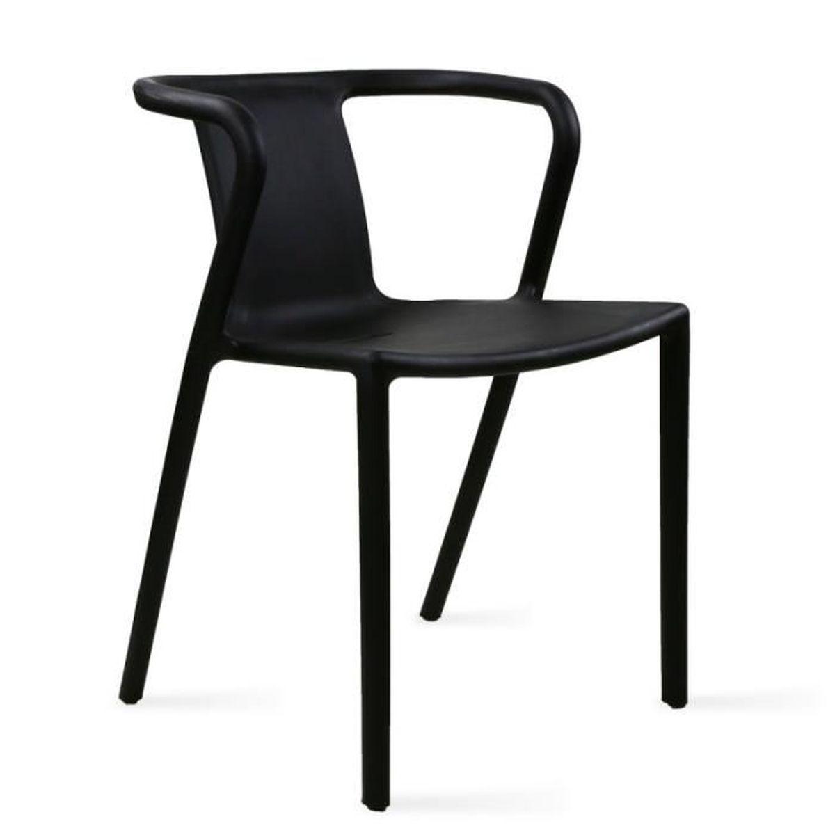 FAUTEUIL JARDIN Chaise De Jardin Design En Plastique Noir