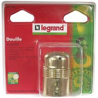 DOUILLE Douille E27 acier laitonné Legrand - Sans bague
