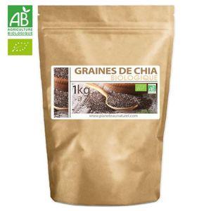 CÉRÉALES - MÉLANGES Graines de Chia Bio - 1kg (Salvia hispanica)