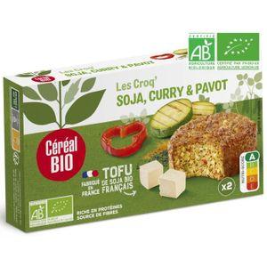 PLAT LÉGUMES - FÉCULENT CEREAL BIO Croq'Soja Curry Pavot Bio, spécialité v