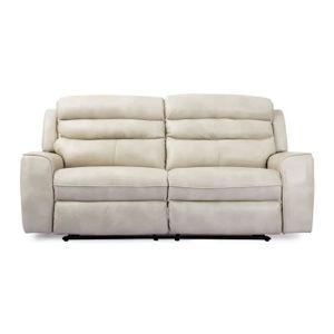 canap relax manuel en pu verezzo latte 3 places achat vente canap sofa divan. Black Bedroom Furniture Sets. Home Design Ideas