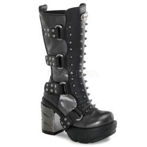 """BOTTINE Demonia SINISTER-202 3 1/2"""" Chromed ABS Heel, 1 1/"""