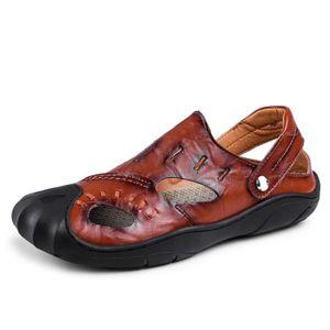 efd37a142b181d SANDALE - NU-PIEDS Sandales Homme Sandale En Cuir Chaussure Randonnée ...