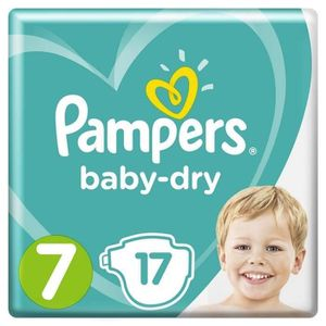 COUCHE Pampers Baby-Dry Taille 7, 15+ kg, 17 Couches