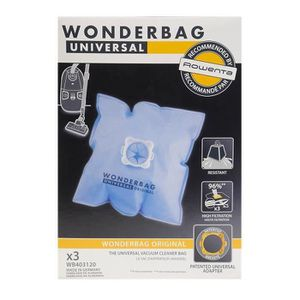 SAC ASPIRATEUR 3 sacs aspirateurs universels - Wonderbag WB403120