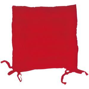 COUSSIN DE CHAISE  Dessus de chaise capitonné en coton PANAMA rouge.