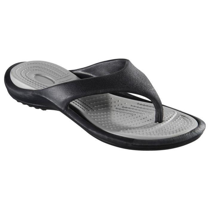 SANDALE - NU-PIEDS ATHLI-TECH Sandalettes Piscine D Pool 3 Noir/Gris