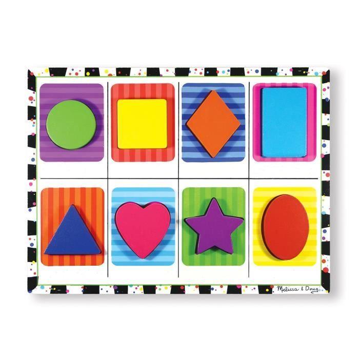 Puzzle à Grosses Pièces En Bois - Formes - Garçon et Fille - A partir de 2 ans - Livré à l'unitéPUZZLE