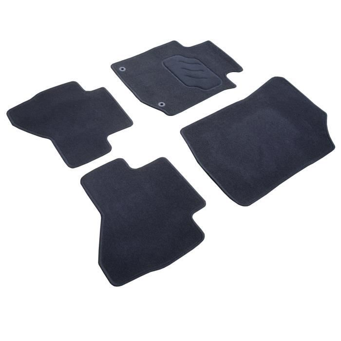 Jeu complet de 4 tapis sur mesure (2 avants + 2 arrières) pour Dacia Sandero - Vendu par jeu completTAPIS DE SOL