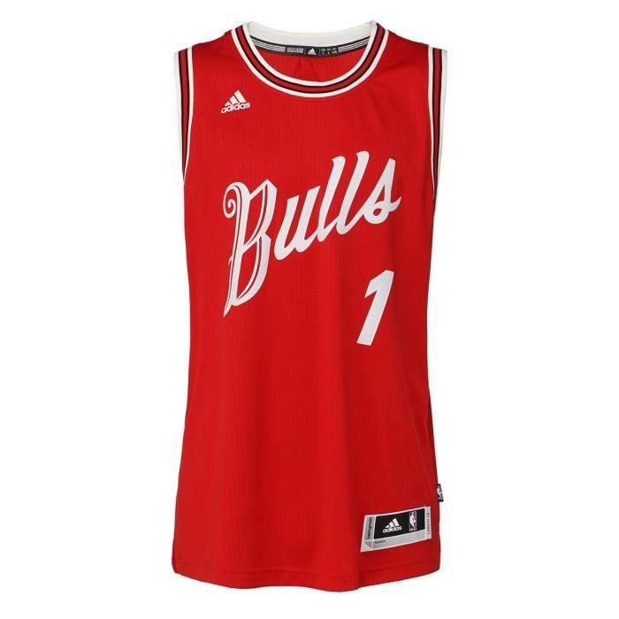 bd4a506617d98a ADIDAS PERFORMANCE Maillot NBA Chicago Bulls #1 Derrick Rose Homme BKT