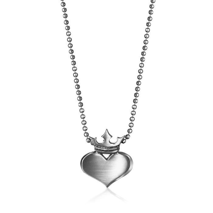 Alex Woo Little Rock Star Heart With Crown Pendant Necklace BAL24