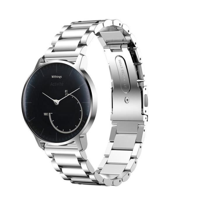 BRACELET DE MONTRE Bracelet en acier inoxydable montre Smart Watch Ba