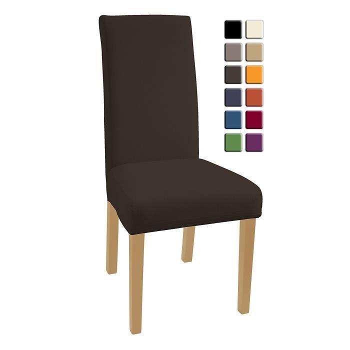 Housses De Chaises 6 Pieces Stretch Housse Bi Elastique Moderne Decor Couverture Chaise Materiau Spandex