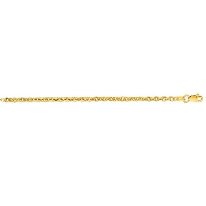 3,1 mm or jaune 14 carats Lite câble chaîne collier 20 pouces