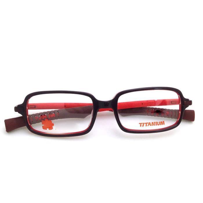 Cadres optiques pour enfants avec Silicon Titane Lunettes Passionné rouge