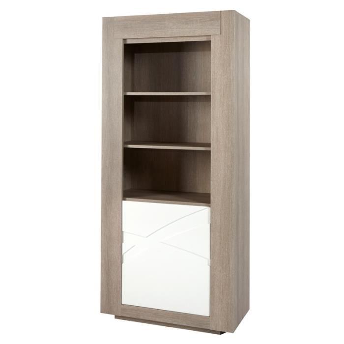 armoire de salon 1 porte 2 tag res swim taille l 90 x l 45 x h 200 couleur marketing. Black Bedroom Furniture Sets. Home Design Ideas