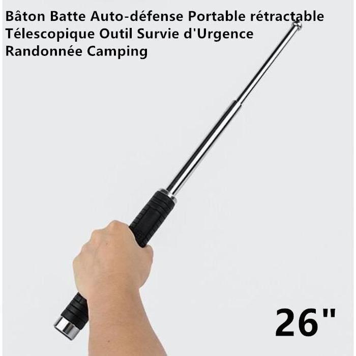 BÂTON DE MARCHE Bâton Batte Auto-défense Portable rétractable Téle